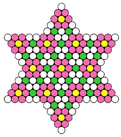 Flower Star bead pattern