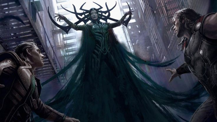 Some awesome new concept art has surfaced from Marvel's highly anticipated Thor: Ragnarok! A couple pieces feature Thor (Chris Hemsworth) and Hulk ( Mark Ruffalo) in the heat of battle in a gladiator match on the planet of Sakaar. And there's another one that gives us our first good look at Cate Blanchette as Hela looking over Thor and Loki (Tom Hiddleston). I love her design as she looks incredibly sinister! In Marvel Studios' Thor: Ragnarok, Thor is imprisoned on the othe...