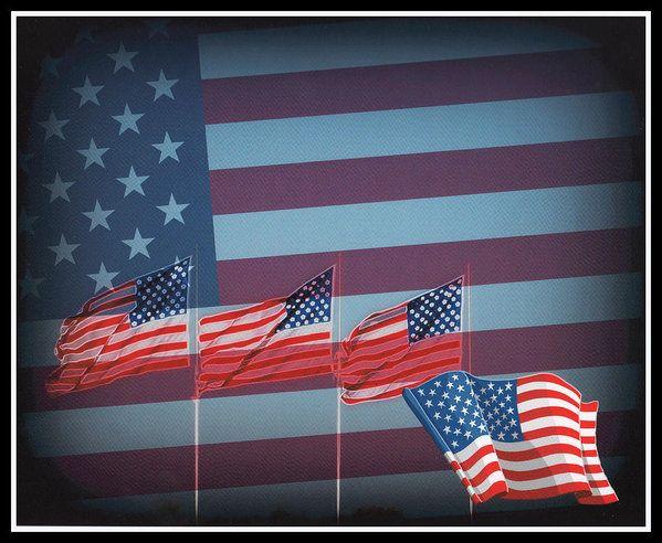 """Red White And Blue"" by Kay Novy, (kkphoto1) #USA #flags #patriotic #flag #American #digital #photography #KayNovy #kkphoto1"