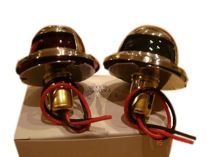 1 Pair Of Stainless Side Boat Navigation Lights