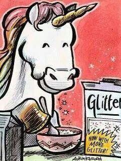 Glittet breakfast