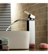 Luxury Single Handle Single Hole Waterfall Bathroom Faucet 8072