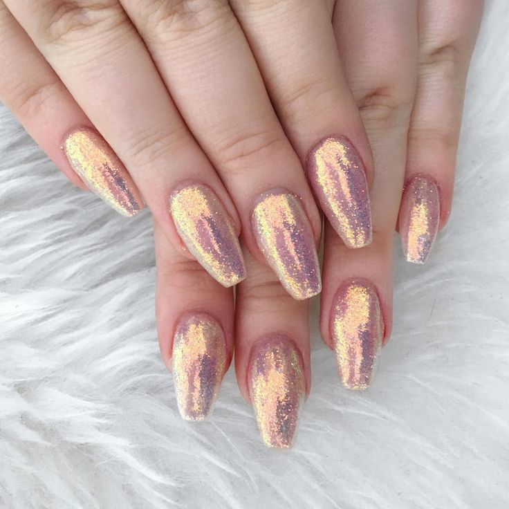 """""""NOTHING can do these nails justice! It's like a fairy unicorn barfed glitter and I'm living for it.  OBSESSED. @electanailart slayed these.…"""""""