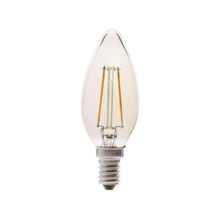 Bombilla tipo vela rústica de LED #bombillas #filamento #rustico #retro #vintage #decoracion #interiorismo #iluminacion #lamparas #led
