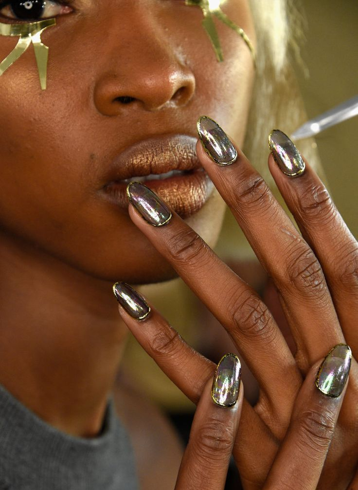 These metallic nails debuted at The Blonds Spring 2016 and are a great nail trend to rock this Spring.