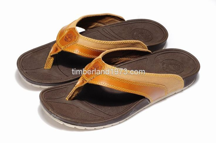 2017 New Timberland Men's Earthkeepers Fabric Leather Flip-Flops Slippers Wheat $ 48.00