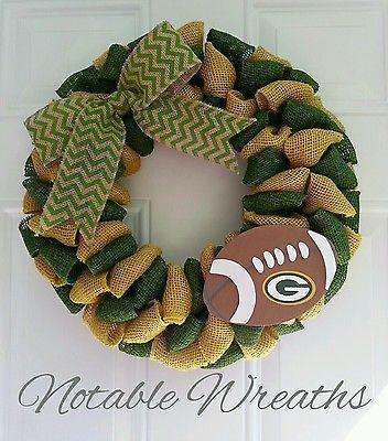 NFL wreath Green Bay Packers wreath team wreath football wreath packers wreath