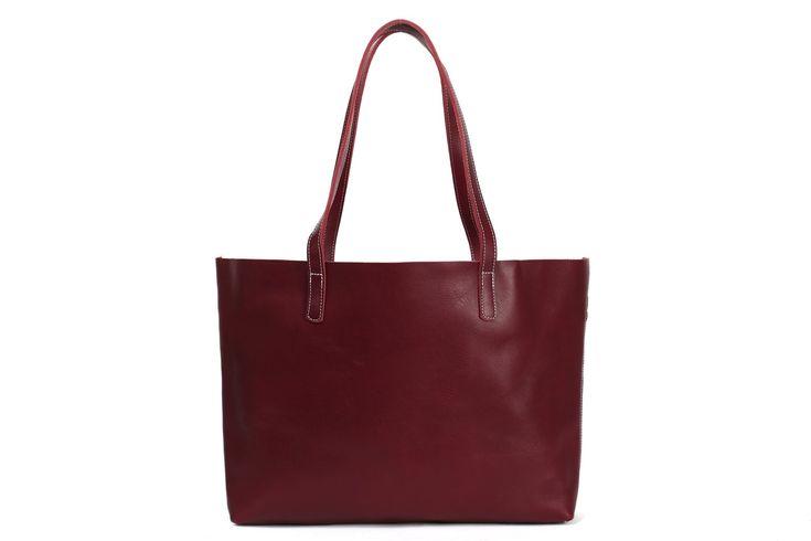 Women Tote Bag Handmade Vegetable Tanned Full Grain Leather Shopping Bag Shoulder Bag ZB-01