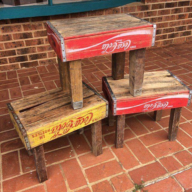 RR soda crate stools