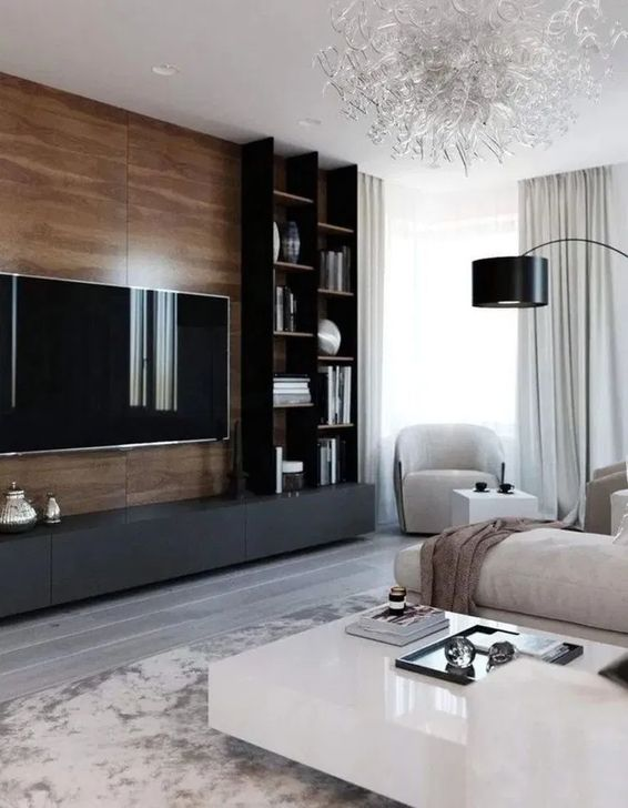 46 Best Minimalist Tv Wall Decor Ideas That You Must Try Cozy Living Room Design Living Room Design Modern Living Room Tv
