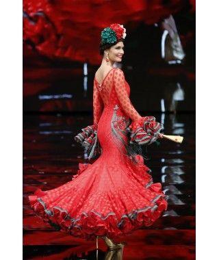Resultado de imagen de trajes de flamenca con tul