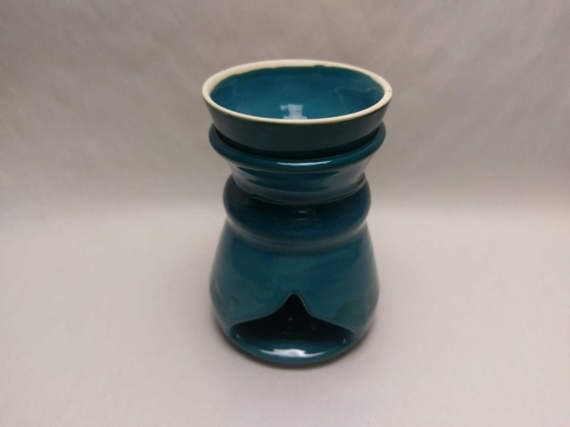 wax melt warmer turquoise hand made ceramic 31 by