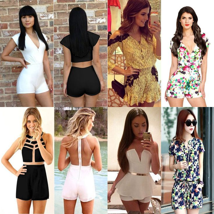 Sexy Ladies Playsuit Party Evening Summer Bodycon Jumpsuit Romper Shorts #Unbranded #Jumpsuit