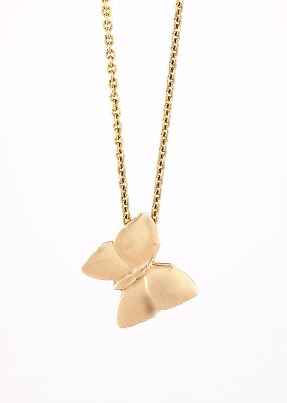 Gold+Butterfly+Pendant++Modern+Minimalist+by+CsillaEkesGoldsmith,+$235.00