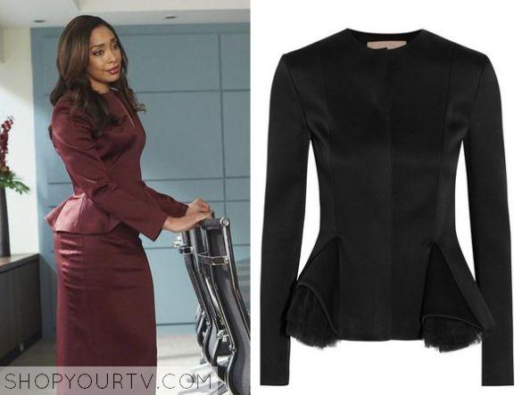 Suits: Season 5 Episode 3 Jessica's Burgundy Peplum Top