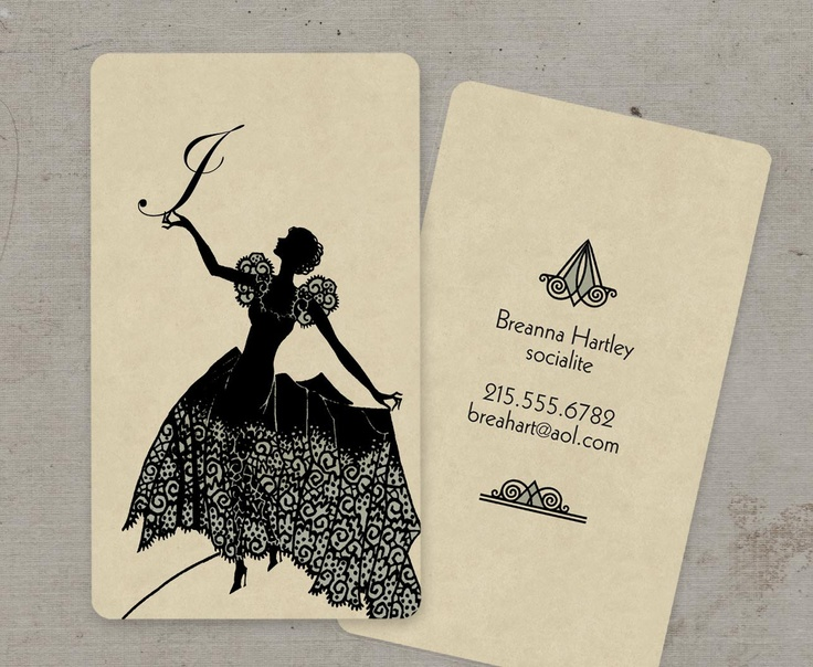 14 best name card images on pinterest carte de visite business vintage business cards calling cards art deco by gogosnap on etsy i dont reheart Images