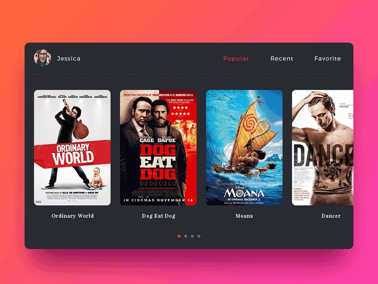 Daily UI #05 - Movie App Animation by Evan Lu