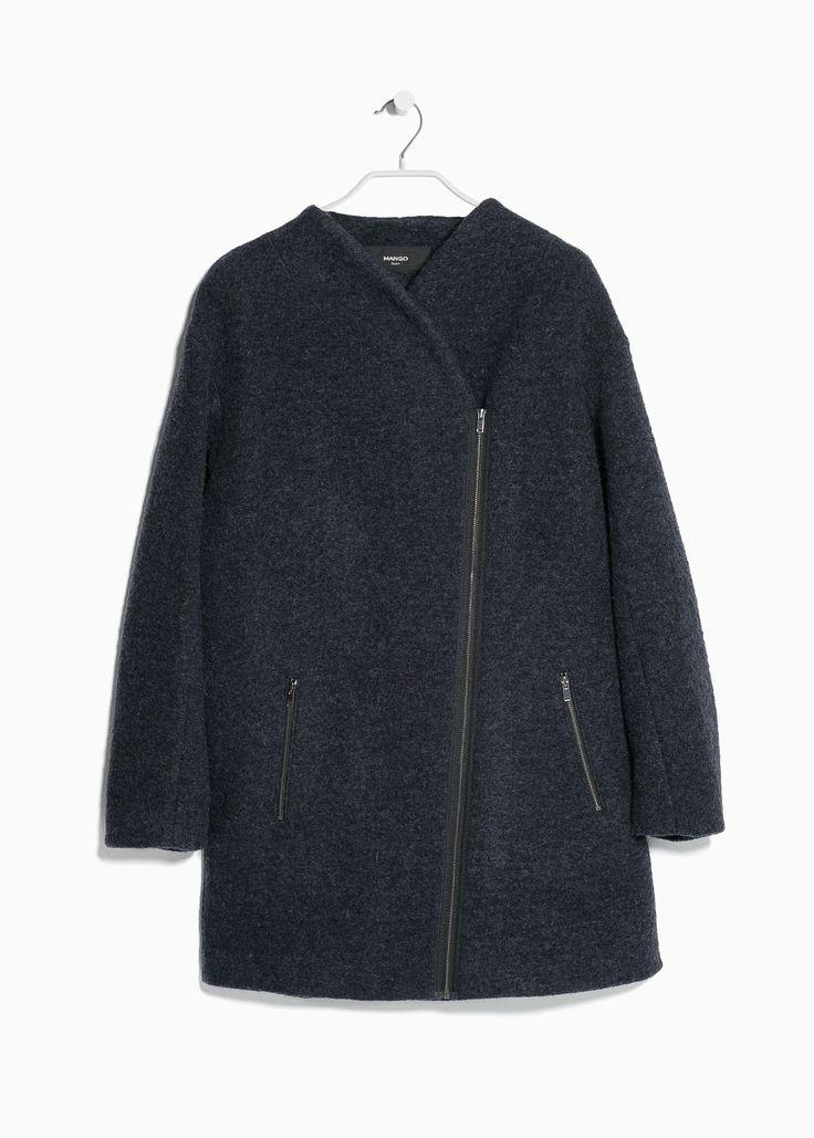 Cocoon wool-blend coat Mango $149