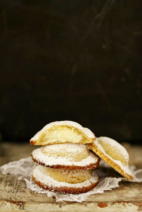 pastries filled with cream sicilian style