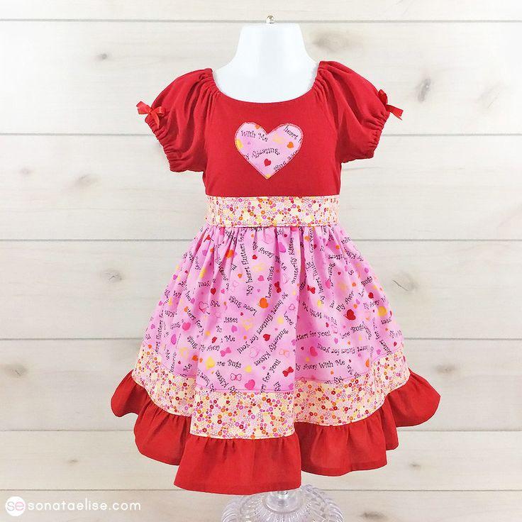 Valentine's Day Toddler Girl Dress - Butterfly Kisses Dress