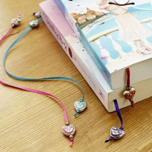 Make Your Own Ribbon Bookmarks | Beaded ribbon bookmarks to make - Make a beaded ribbon bookmark ...