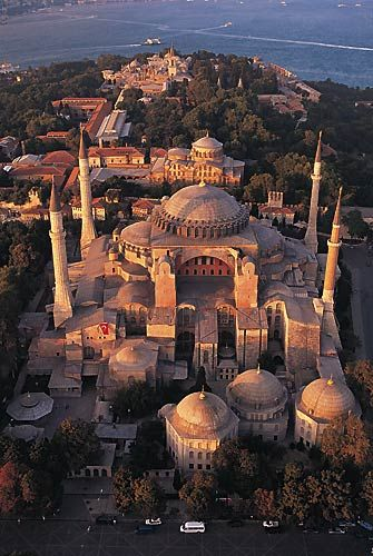 Hagia Sofia in Istanbul, Turkey- I will go here... hopefully for 10 year anniversary!