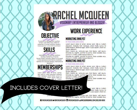 $20 Resume U0026 Cover Letter Social Media Twitter By CareerGirlDesigns
