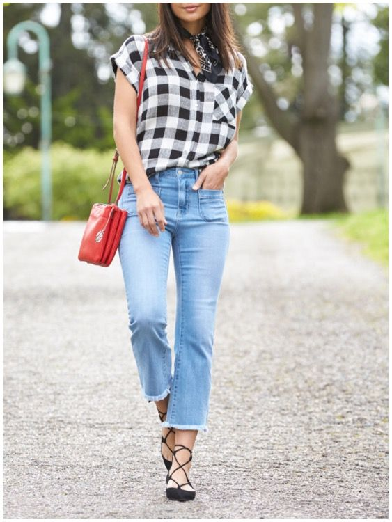 **** Stitch Fix Summer 2017 trends! Love this black and white gingham top. Get gorgeous styles delivered right to your door!! Simply click the picture to get started, fill out your style profile and ask for pieces just like this! #sponsored #StitchFix