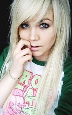 Blonde Emo Hairstyle