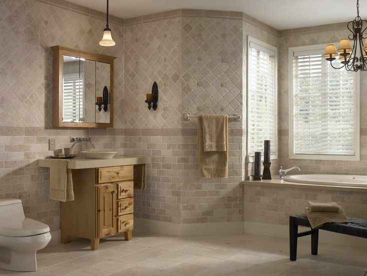 Images Small Airy Tiled Bathroom | Choosing The Right Small Bathroom Tile  Ideas With Hanging Lamp Part 72