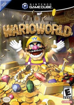Wario World (Nintendo), GameCube; platform game developed by Treasure.  It marks Wario's first starring appearance on a home game console. The game's plot centers around Wario & his quest to regain his treasure & his castle from Black Jewel, an evil gem. Wario World's gameplay centers mainly on combating enemies, although it requires some platform navigation similar to Super Mario 64 & Super Mario Sunshine. Sold over 142k copies in Japan - yet critical reception was fair to middling.
