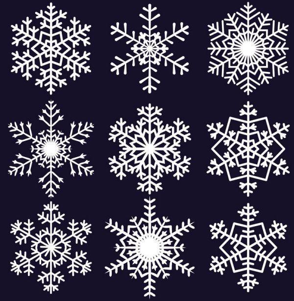 süße Schneeflocken