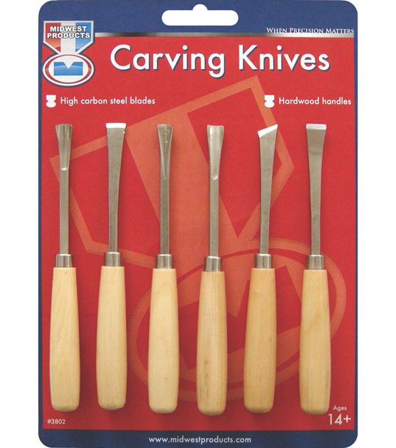 Wood carving set pk knives and carvings