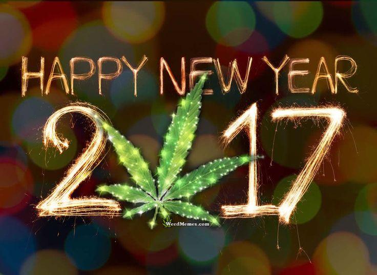 Happy New Year 2017 Marijuana Leaf – Weed Memes
