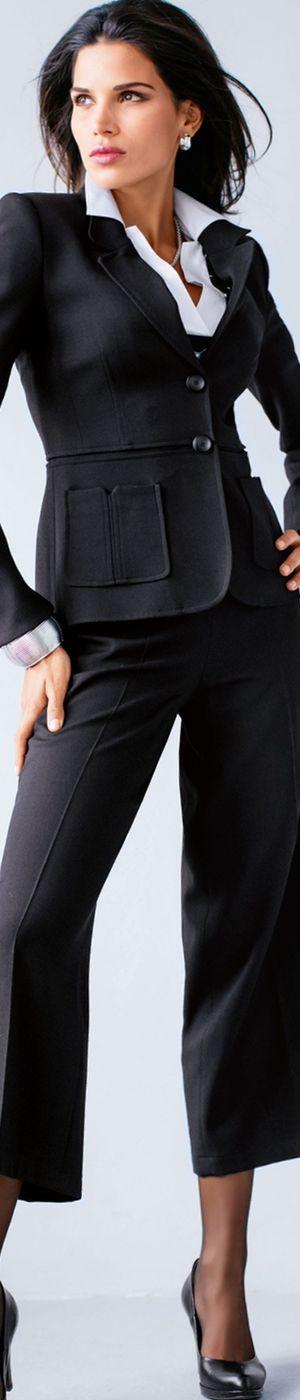 Madeleine Black Trousers and Blazer LOLO 2016 Chic CEO repin BellaDonna