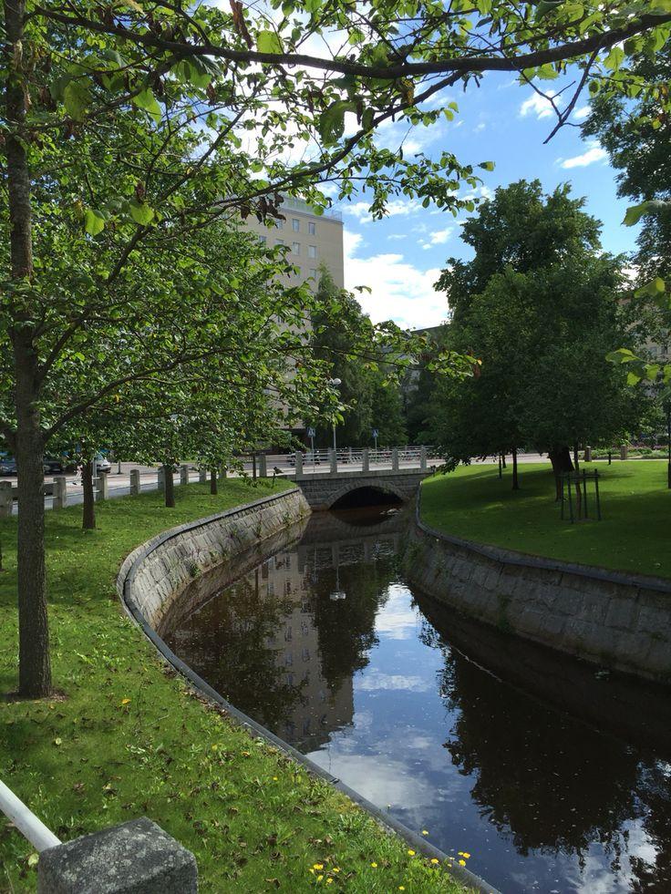 Plaanaoja, Oulu, Finland. Photo: Mauri Kuorilehto (30.7.2015).