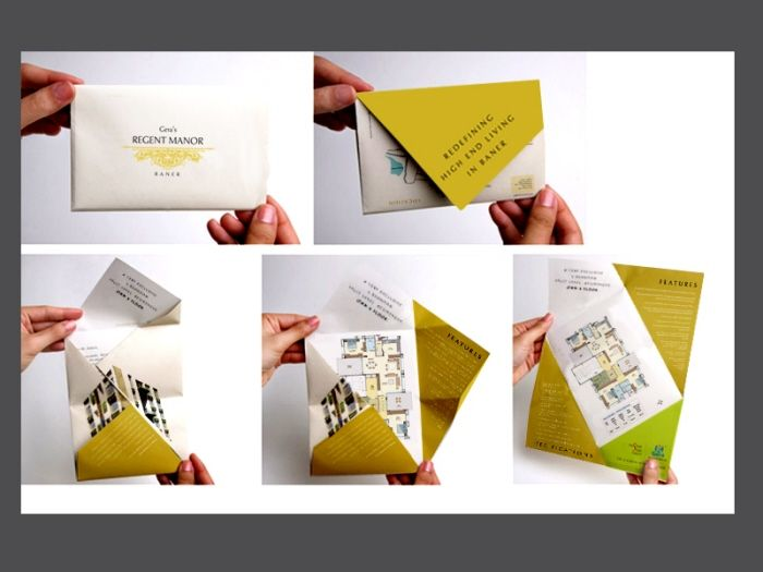 17 best images about creative folding brochures on