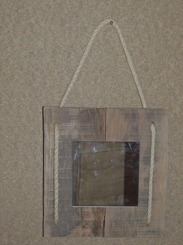 25 beste idee n over touw spiegel op pinterest strand for Ronde plakspiegel