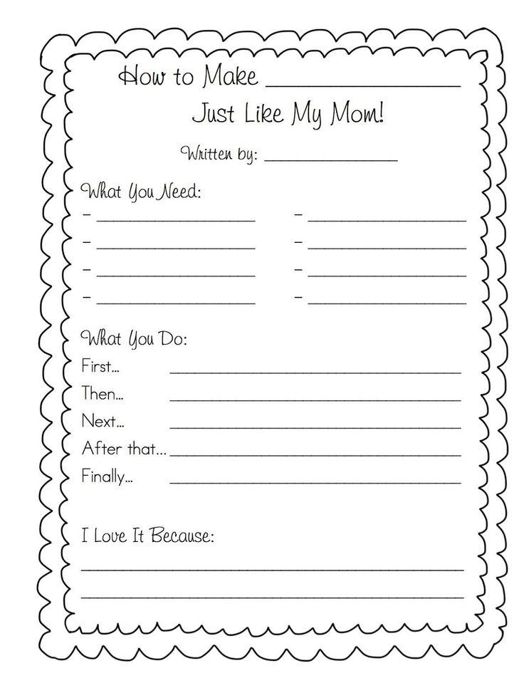 Bonjour Grade 1!: Mother's Day Cookbook
