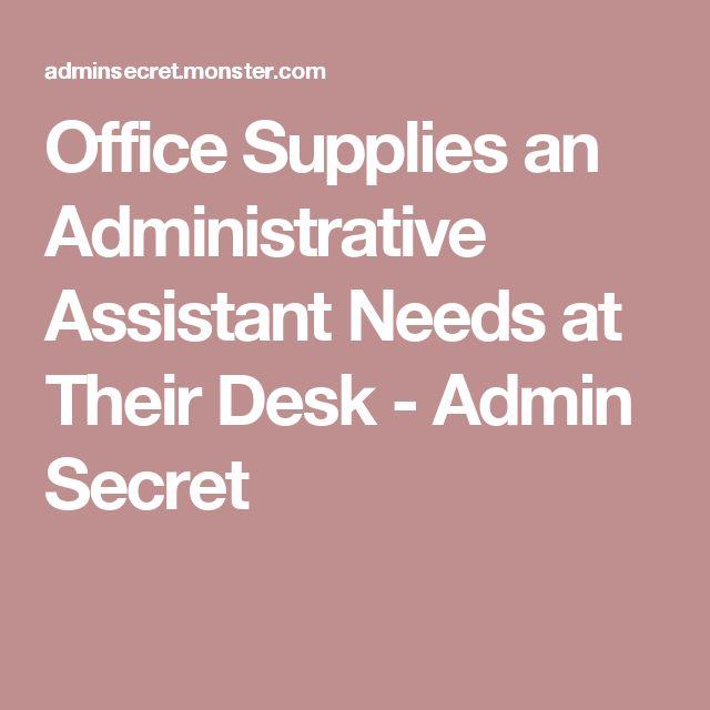 Office Supplies an Administrative Assistant Needs at Their Desk - Admin Secret