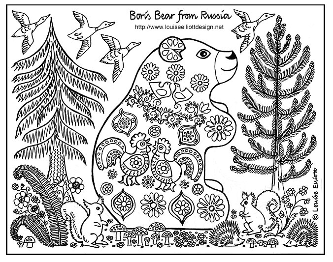 Coloring Animals With Patterns : Animals from around the world coloring pages homeschool