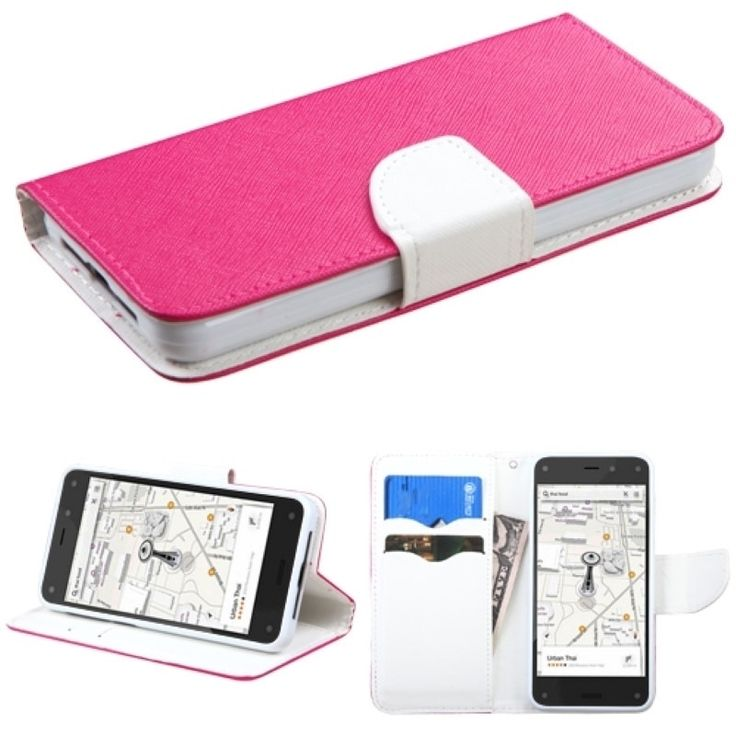 Insten Leather Wallet Folio Book-Style Flip Phone Case Cover With Stand For Amazon Fire Phone
