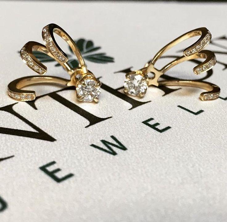 Diamond Claw Earring Cuff $430.00