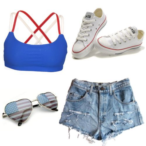 Outfit of the day: 4th of July! Cute red, white and blue sports ...