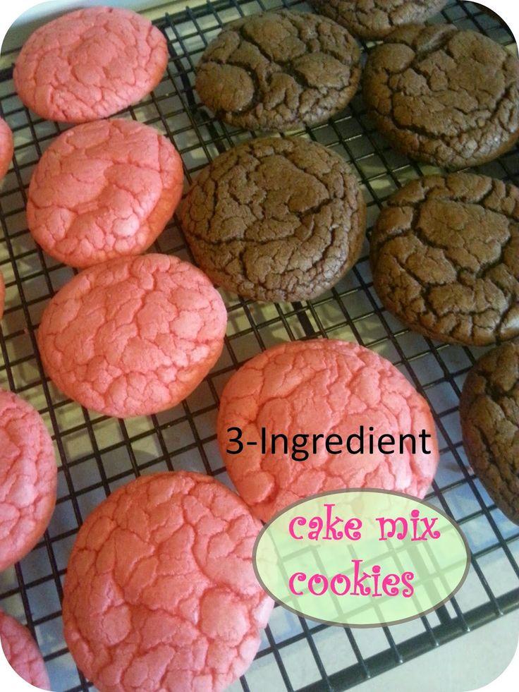 The Better Baker: 3-Ingredient (Jello) Cake Mix Cookies