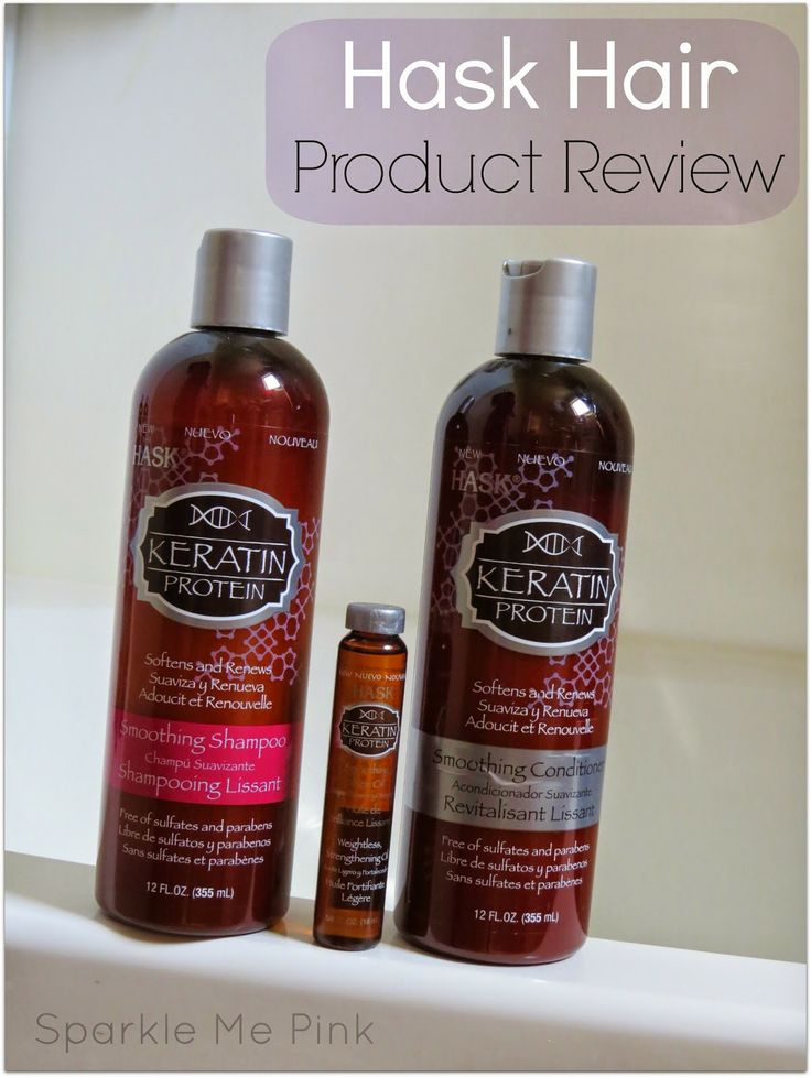 Sparkle Me Pink: Hask Hair Products : Argan and Keratin Hair Care Review