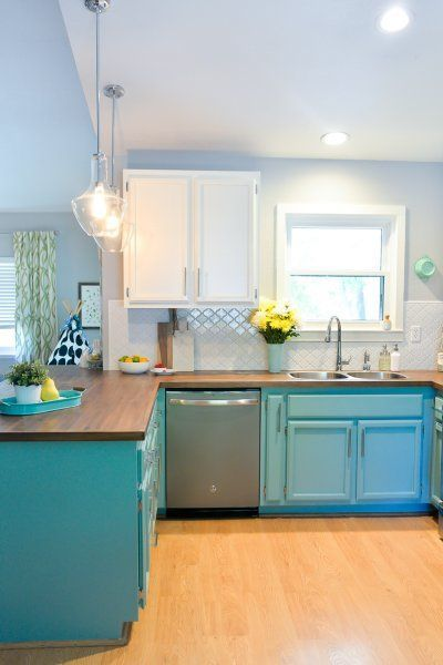 Bright and Happy DIY Kitchen Renovation on a Budget Kitchen