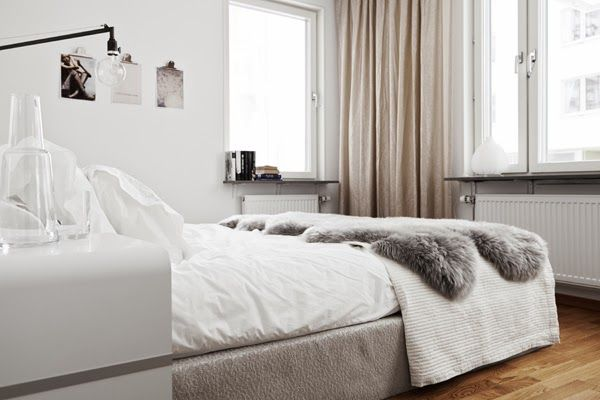 A de-cluttered monochrome Swedish home - via My Scandinavian Home