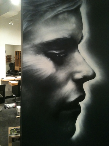 facebook.com/omenGraffiti  work I have done for Sizo an hairdressing shop..
