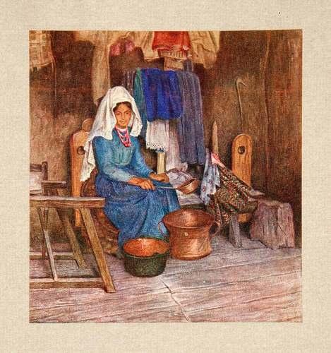 1928 Print Maria Abruzzi Italy Woman Pots Clothing Loom Conca Portrait Italian